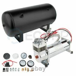 12V 200 Psi Air Compressor 5 Gal Air Tank Onboard System Kit For Train Boat Horn