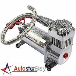 150 PSI Air Compressor 1 /4 Hose Kit For Train Horns Bag Suspension 12V New