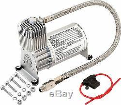 150 Psi Air Compressor 1 /4 Hose Kit For Train Horns/bag Suspension 12v Vxc8701