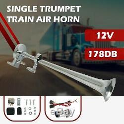 178DB 12V Single Trumpet Air Horn Kit Compressor for Van Train Boat Universal
