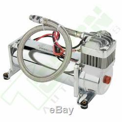 200 Psi Air Compressor 12V Permanent Magnetic Motor Hose Kit For Train Horns
