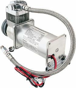 200 Psi Air Compressor 1 /4 Hose Kit For Train Horns/bag Suspension 12v Vxc8301