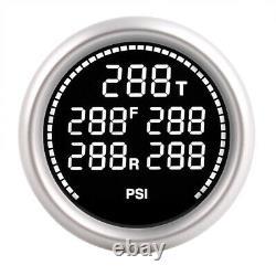 252mm 7 Color LCD Air Suspension Pressure Gauge Bar&PSI Dual Air Ride Meter 12V