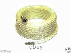33 ft 1/4 ID Clear Air Compressor Hose with Quick Couple and Fitting Tool kit