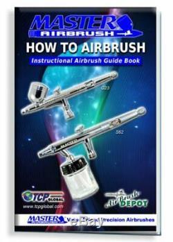3 Master Airbrush Pro Air Compressor Kit, Hobby, Auto, Cake, Tattoo Art Paint