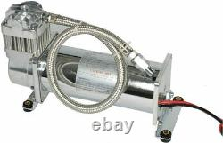 4 Trumpet Train Air Horn Kit 3 Gallon Tank 200PSI Compressor for Car Truck Boat