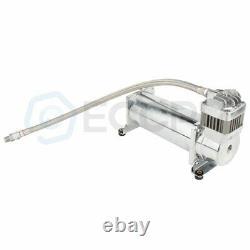 4 Trumpets Train Horn Kit For Truck Car Semi Loud System Air Compressor 200psi
