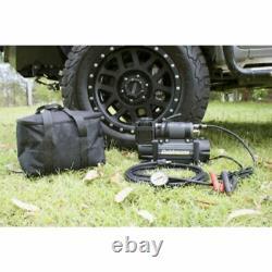 4x4 Zenith Portable 12V HIGH Output AIR Compressor KIT Bag Hose Gauge Dobinsons