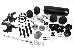 63-72 Chevy C10 Truck Air Ride Bag Suspension Kit Drop Spindles Panhard Shocks