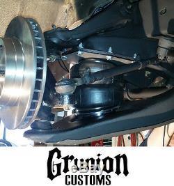 65-72 Chevy C10 Front Rear Air Bag Suspension Bolt On Kit Tank Gauges Compressor