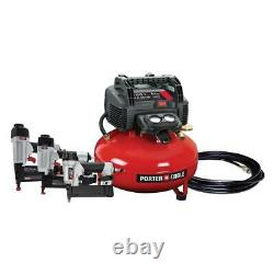 6 Gal. 150 PSI Portable Electric Air Compressor with 3 Nail Guns & 25 ft Hose