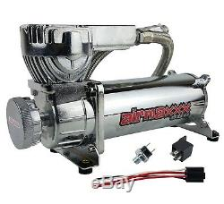 Air Bag Suspension Compressor 580 Chrome 180psi Off Pressure Switch & Filter