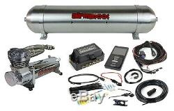 Air Lift 3P 27685 3/8 5 Gallon Seamless Raw Aluminum Tank Chrome 480 Compressor