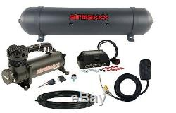 Air Lift 3S 27708 3/8 5 Gallon Seamless Aluminum Tank Black 480 Compressor