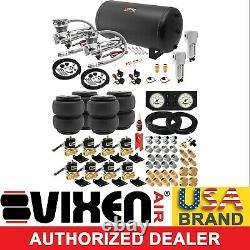 Air Suspension Kit for Truck/Car Bag/Ride/Lift/Spring Dual Compressor, 6G Tank