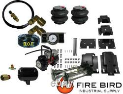 Air Tow Assist Rear kit, 2 paddle, Tank, Horn, Red Compressor 2009-18 Dodge 1500