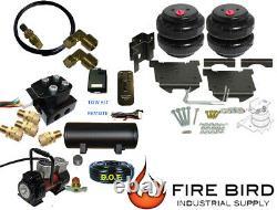 Air Tow Assist Rear kit, VU2 wireless, Tank, Red Compressor 2009-18 Dodge 1500
