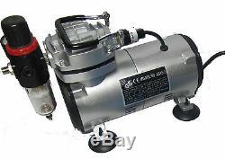 Airbrush Kit + Airbrush Compressor Air Brush Compressor 134k Air Brush Kit