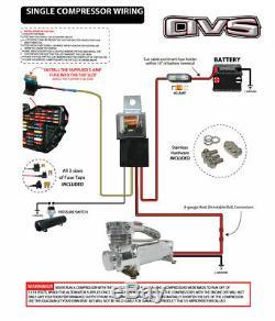 Airmaxxx chrome 580 air compressor & avs single compressor wiring kit