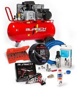 BURISCH Regulator Air Impact Wrench 90L Air Compressor Hose High Flow socket Kit