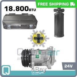 Brand New AC Kit Universal Under Dash Compressor Kit Air Conditioner 24V
