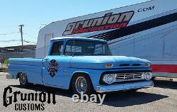 Chevy C10 1963-64 Front & Rear Air Bag Suspension Bolt On Kit with Dominator Bags