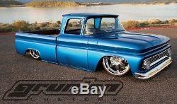 Chevy C10 1971-72 Custom Air Bag Ride Suspension Kit with Drop Shocks Spindles