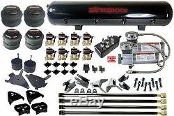 Chevy S10 Air Kit 4 Link Compressor 4 Air Bags 1/2 Valves Black 7 Toggle & Tank