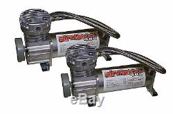Chevy S10 Air Kit Pewter Air Compressors 25 & 26 Bags 1/2 Valve Shirt Blk AVS 7