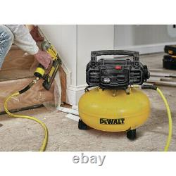 DEWALT DWFP1KIT 18 Ga. Brad Nailer & 6 Gal. Oil-Free Pancake Air Compressor New