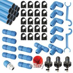 F28070 Fast Pipe 90' 3/4 Compressed Air Line Aluminum Piping System Tubing Kit