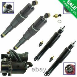 Front Rear Shock Absorber Air Suspension Compressor with Dryer Kit Kit 5pc New
