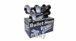 HornBlasters Bullet 127H Loud Air Horn Kit for Truck with 275C Compressor