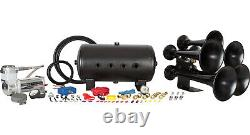 HornBlasters Katrina 540 Loud Train Air Horn Set Kit with VIAIR 400C Compressor