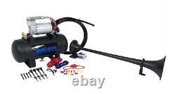 HornBlasters Safety 127H Loud Fire Truck Air Horn Kit with Compressor 1 Trumpet