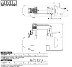 Kleinn 730 Air Horn The Demon Train Horn with VIAIR 20007 200psi Air Kit 158 db