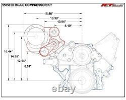 LS Truck R4 A/C Air Conditioner Compressor Bracket Kit SUV LSX AC (LS3 Camaro)