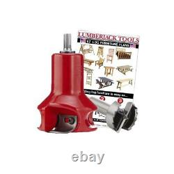 Lumberjack Tools Home Series Log Furniture Tenon Cutter Beginners Kit 1 1/2in