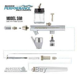 Master Airbrush Air Compressor Cake Decorating Kit 12 Chefmaster Food Colors Set