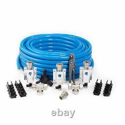 MaxLine 100 Foot 3/4 Inch Semi-Flexible Compressed Air Tubing Master Kit, Blue