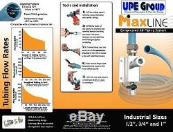 MaxLine COMPRESSED AIR TUBING piping system Master Kit 3/4 pipe x 300 FT M7580