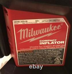 Milwaukee 2475-20 M12 Cordless Compact Tire Inflator 1.5 Battery Charger Bag kit