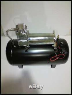 New Foxx Air Compressor 12 Volt 100% Duty Cycle With 5 Gallon Air Tank Kit