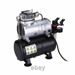 OPHIR Airbrush Kit Air Compressor with Tank for Model Hobby Crafts 3 Airbrushes