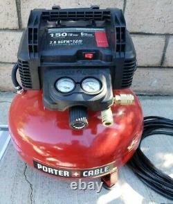 PORTER CABLE PCFP3KIT 6 Gal. 150 PSI Air Compressor with 3 Nail Gun Kit
