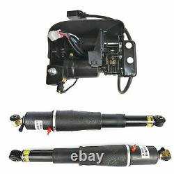Pair Air Suspension Shocks+Compressor Pump For Cadillac Escalade Suburban GMC US