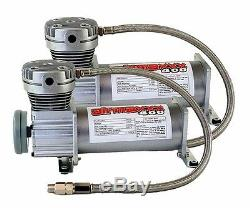 Pewter Air Ride Compressors 4Link 1/2 Valves Blk 9 Switch For 1973-87 Chevy C10