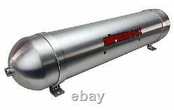 Raw 5 Gallon 7 Port Aluminum Air Tank 33 Seamless Air Ride Suspension System