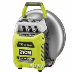 Ryobi 6 Gallon Electric Pancake Compressor Nailer Tool Combo Kit with 2 Nailers