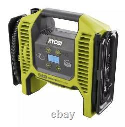 Ryobi P747 18V Portable Inflator/Deflator Air Pump Kit W 4ah Battery P118b Chg